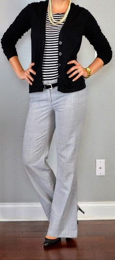 Perfect work look Outfit Posts  outfit posts  striped shirt cfebaf28ae092