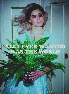 """I can't help that I need it all..."" -Marina"