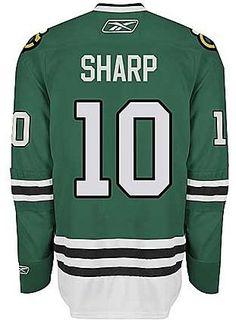 Blackhawks Patrick Sharp Premier St. Patrick's Day Green Jersey