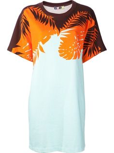 MSGM Palm Print Sweatshirt Dress