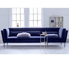 Bloomingville Rox Sofa i blå velour