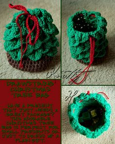 Christmas tree bag ~ free pattern