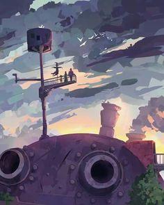 Studio Ghibli fan art concepts by Spridt