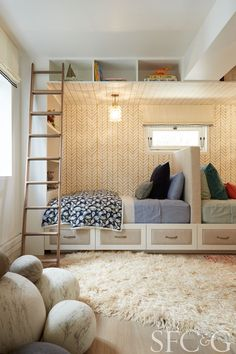 Bedroom by Nest Design Company for the #SFShowcase | Step Inside the 2016 San Francisco Decorator Showcase House via @cottagesgardens