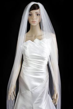 Wedding Veil Bridal Bride 120in One Tier Ivory Cathedral Plain Pencil Trim Edge * Visit the image link more details. (This is an Amazon affiliate link)