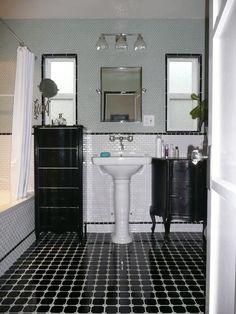 Another beautiful balck and white bathroom, Bouma-Kellerman Design