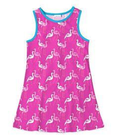 Pink Flamingo Tank Dress - Toddler & Girls