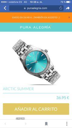 Reloj Arctic Summer 37€ Arctic, Summer, Pure Joy, Pop Of Color, Watch, Feminine Fashion, Summer Time, Summer Recipes, North Pole