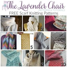 Scarves are so much fun to knit, especially if you have really amazing scarf knitting patterns like the ones listed! Even better? They are all FREE!