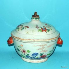 YONGZHENG-ANTIQUE-FAMILLE-ROSE-18THC-CHINESE-PORCELAIN-LANDSCAPE-TUREEN-COVERED