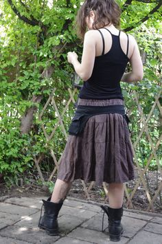 Kool Thing   Belt Pockets Hip Bag Utility Belt by IsNoGoodWear, $45.00 Altered T Shirts, Diy Fashion, Fashion Outfits, Braided Scarf, Festival Skirts, Belt Purse, Hip Bag, Business Outfits, Baby Wearing