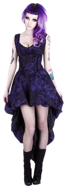 cute idea for a dance hall girl dress!!     Purple Murderotic Bustle Dress