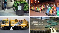 Hacía tiempo que no hacía un recopilatorio de acciones de ambient marketing, esa publicidad que intenta colarse en los lugares más insospechados para im