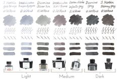 A Review / Comparison of Gray Fountain Pen Inks - From those wonderful penfans at JetPens.com
