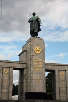 Berlin. This large monument in Berlin's Tiergarten park commemorates the about 300,000 Red Army soldiers that died during the battle for Berlin in WWII. It was erected just a few months after the capture of Berlin in 1945. Read full article...