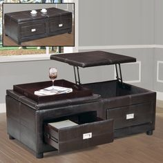 Home Décor functional storage coffee table