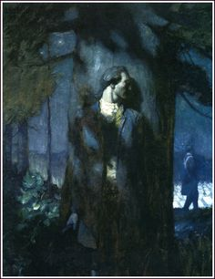 N.C. Wyeth - I believe this is supposed to be of Nathan spying; even if it isn't, it reminds of him.