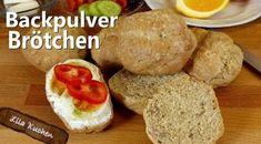 Schnelle Brötchen ohne Hefe - Rezept von Lila Kuchen Baked Potato, French Toast, Potatoes, Baking, Breakfast, Ethnic Recipes, Food, Youtube, Vegan Baking