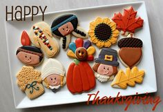 How cute would these be for Thanksgiving?  Especially love the Indian corn.  Such cool colors!