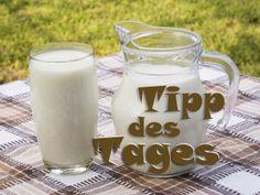 Unser TIPP des TAGES: Trinkt heute 2 Gläser Milch. Wieso, verraten wir euch hier: