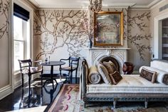 Hand-painted wallpaper from Fromental in England