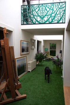 artificial lawn - it's not just for indoors! Artificial Grass - we love this idea!!