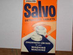 Vintage Salvo Laundry Detergent Tablets