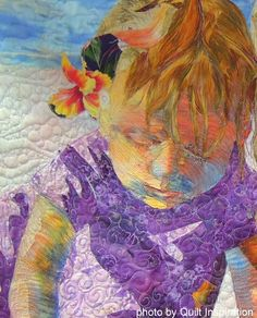 """Discovery"" by Phyllis Cullen.  Inspired by her granddaughters. Best of the 2014 Pacific International Quilt Festival - Day 3"