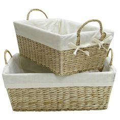 Natural New Version Rectangle Baskets with Handles | Shop Hobby Lobby