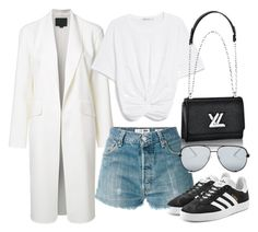 """""""Untitled #21882"""" by florencia95 ❤ liked on Polyvore featuring Alexander Wang, RE/DONE, adidas Originals and Quay"""