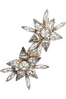 Jennifer Behr Starburst Swarovski crystal-embellished hairclip | NET-A-PORTER $195