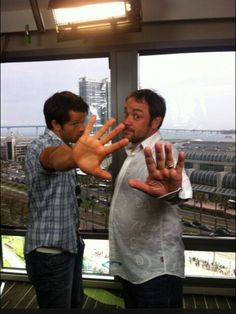 Misha & Mark. Why are they so cute?