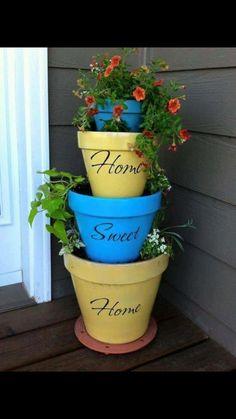 Tower pot plant