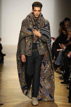 I'm loving the return of the cloak/capes.  Missoni Men's FW 2014