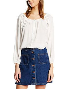 Vero Moda Womens Ollie Top Snow White Small >>> Want additional info? Click on the image.