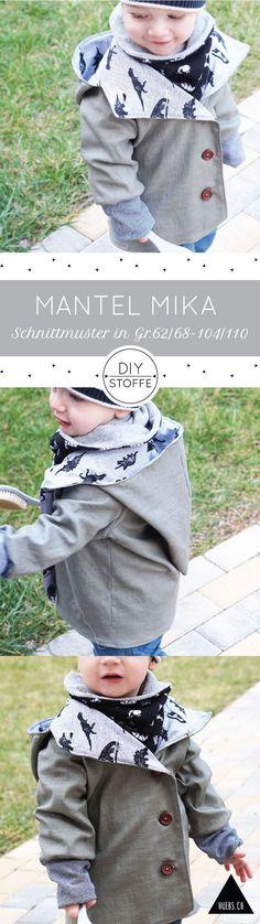 Mantel Mika - ein tolles Projekt auch für Nähanfänger - Die Anleitung und Schnittmuster für den Kindermantel findet Ihr bei diy-stoffe.de.