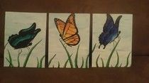 All three done! 'Butterflies'