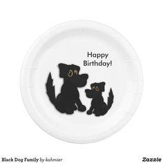 Cute Black Dog Happy