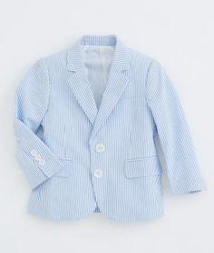 Boys 2-Button Seersucker Sport Coat