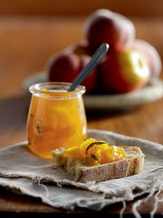 Spicy peach jam.