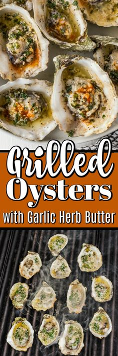 These Grilled Oysters are just about the perfect little bite; each wonderful oyster is floating in amazing garlic herb butter.