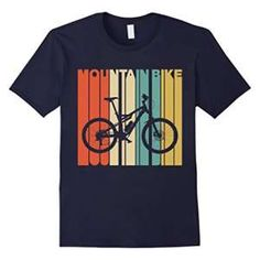Vintage Style Mountain Bike Silhouette T-Shirt Solid colors: 100% Cotton; Heather Grey: 90% Cotton, 10% Polyester; All Other Heathers: 65% Cotton, 35% Polyester Machine wash cold with like colors, dry low heat Lightweight, Classic fit, Double-needle sleeve and bottom hem
