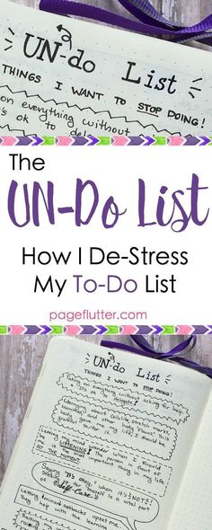 http://pageflutter.com | My bullet journal list of things to STOP doing. Productivity needs a break, too!