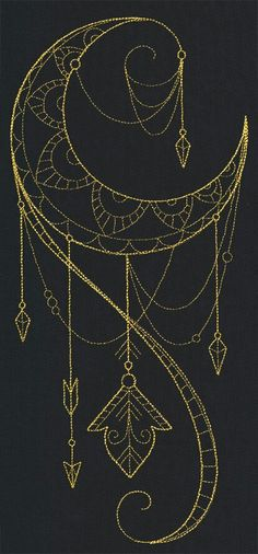 Talisman draping crescent Urbanthreads.com
