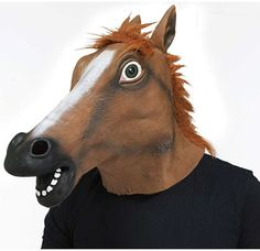 Adult Horse Head Costume Mask Kostüme - Costumes, Kostüm, Costume, Fasching, Fasnacht, Karneval, Carneval, Mask, Masken, funny staff for events