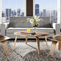 Plywood Coffee Table Walnut - Great for a NW contemporary space.