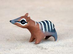 Tiny numbat Handmade miniature polymer clay animal AnimalitoClay, $20.00