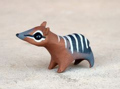 Tiny numbat - Handmade miniature polymer clay animal figure