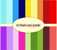 Dicas, Truques e Silhouette : Kit de papel digital poá grande