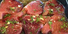 Asian Tuna Steaks -- a really great marinade if you like the taste of fresh ginger -- we absolutely loved it!